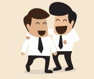 Amitié entre l'homme d'affaires deux illustration de vecteur