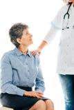 Amitié entre le docteur et le patient Photos libres de droits