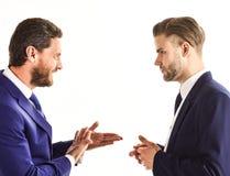 Amitié et concept d'affaires Homme d'affaires avec le visage de sourire Image stock