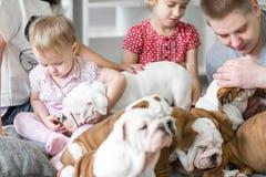Amitié et dévotion du chien pour équiper le concept Photo libre de droits