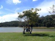 Amitié et repos dans un damm en Minas Gerais, Brésil Image libre de droits
