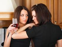 Amitié et vin. Photographie stock libre de droits