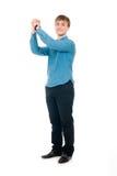 Amitié. Mains jointives par hommes dans un poing. D'isolement Photo libre de droits