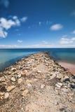 Amity Point beach on Stradbroke Island, Queensland. Beautiful Amity Point beach on Stradbroke Island, Queensland Royalty Free Stock Images