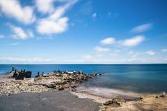 Amity Point beach on Stradbroke Island, Queensland. Beautiful Amity Point beach on Stradbroke Island, Queensland Royalty Free Stock Photo