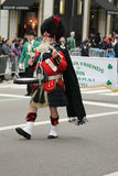 Amityville Highland Pipe Band marching at the St. Patrick's Day Parade in New York Royalty Free Stock Photos