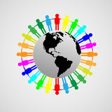Amizade de todos os povos Imagem de Stock