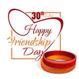 Amizade dia cartão o 30 de julho Foto de Stock Royalty Free