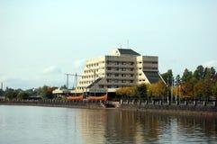 Amizade do hotel na cidade de Vyborg Imagem de Stock
