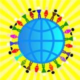 Amizade dos povos, conceito Imagens de Stock Royalty Free