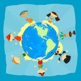 Amizade dos povos Conceito da tolerância ilustração royalty free