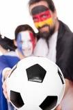 Amizade França e Alemanha, futebol na parte dianteira, cou bonito Fotos de Stock Royalty Free