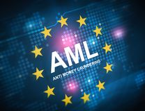 AML anti money laundering royalty free illustration