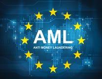 AML anti money laundering vector illustration