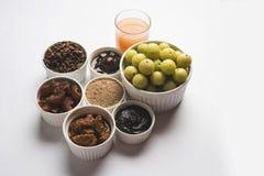 Amla of avlasap, groenten in het zuur, supari, murabba, chyawanprash Stock Foto's