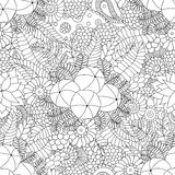 Amla doodle seamless pattern Royalty Free Stock Photography