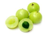 Amla fruit. Over white background royalty free stock photo