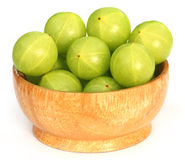 Amla fruits in a bowl Stock Photo
