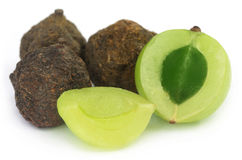 Amla fruits - dried and green Stock Image