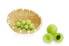 Amla-Grünfrucht, ndian Stachelbeere Stockbild