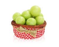 Amla-Grünfrucht, ndian Stachelbeere Stockfotografie