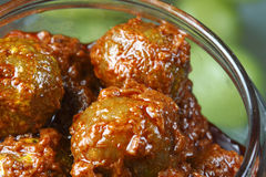 Amla Pickle - A popular Indian pickle containing Amla. Amla Pickle - Indian pickles are a variety of spicy pickled side dishes or condiments popular in the Stock Photography