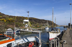 Amlwch Port on Anglesey, Wales, UK in early Spring. Stock Image