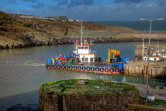 Amlwch Port boat Royalty Free Stock Photos