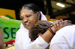 Amma Embracing the world Royalty Free Stock Photo