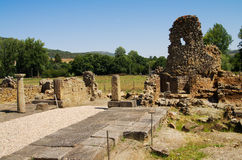 Ammaia roman city square ruins Royalty Free Stock Image