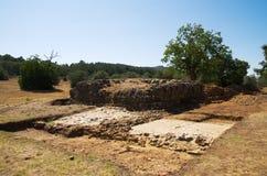Ammaia rzymski miasto - podium ruiny Zdjęcie Royalty Free