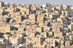 Amman. East side Amman & crowded neighborhood Stock Images