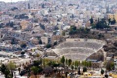 Amman amfitheater - Jordanië Royalty-vrije Stock Afbeeldingen