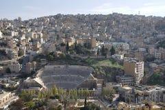 Amman amphitheater. Roman amphitheater in Amman, Al-Qasr site - Capital of Jordan Stock Photography