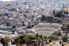 amman amphitheater jordan Royaltyfria Bilder