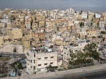 Opinión del ojo de pájaro. Amman. Jordania Imagen de archivo libre de regalías