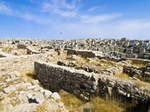 amman citadel royaltyfri foto