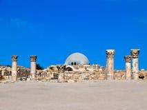 amman citadel roman jordan Royaltyfria Bilder