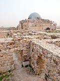 amman citadel roman jordan Arkivbild