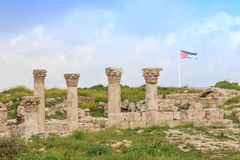 Amman Citadel ruins in Jordan Royalty Free Stock Images