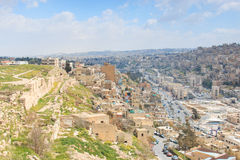 Amman Citadel ruins in Jordan Stock Photography