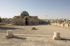 Amman citadelruïnes Royalty-vrije Stock Afbeeldingen
