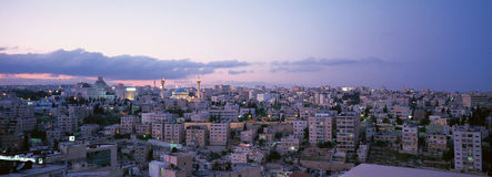 Amman City Background. A panoramic view of the Amman city in Jordan stock image