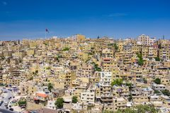 Amman city the capital of Jordan. Amman city the capital of Jordan royalty free stock image