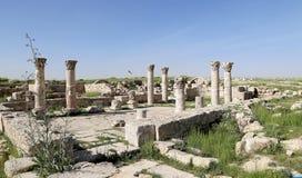 Amman city landmarks-- old roman Citadel Hill,  Jordan Stock Photography