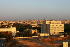 Amman City in sunrise Morning, Jordan Royalty Free Stock Photos
