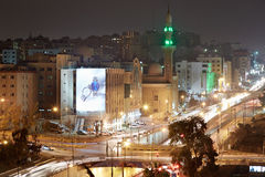 Amman city view in the night, Jordan Royalty Free Stock Photos