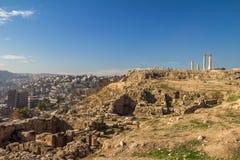 Amman cytadela Jordania Zdjęcia Royalty Free