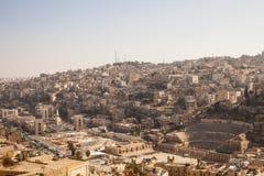 Amman dalla collina Fotografia Stock Libera da Diritti