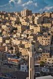 Amman en la puesta del sol imágenes de archivo libres de regalías